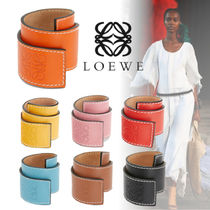 LOEWE Casual Style Leather Bracelets