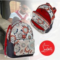 Christian Louboutin Flower Patterns Studded Backpacks