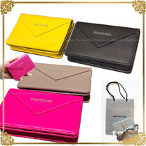 BALENCIAGA PAPIER A4 Plain Leather Card Holders