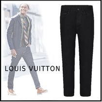 Louis Vuitton 2019-20AW LV STAPLES EDITION SLIM JEANS black pants