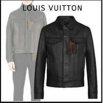 Louis Vuitton 2019-20AW LV STAPLES EDITION LEATHER DENIM JACKET black