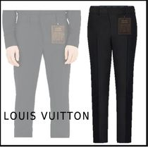 Louis Vuitton 2019-20AW LV STAPLES EDITION CIGARETTE PANTS black pants