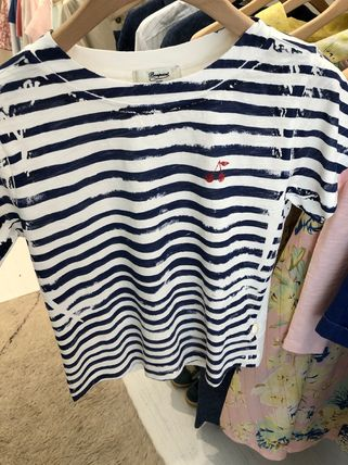 Stripes Cotton Short Sleeves T-Shirts