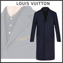 Louis Vuitton 2019-20AW DOUBLEFACE MONOGRAM COAT black coats