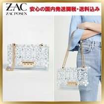 ZAC ZAC POSEN Flower Patterns Chain Plain PVC Clothing Elegant Style