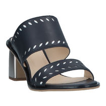 JIL SANDER NAVY Leather Heeled Sandals