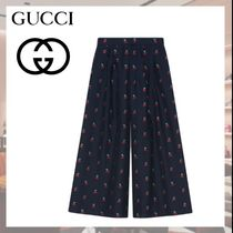 GUCCI Casual Style Cotton Medium Culottes & Gaucho Pants