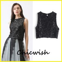 Chicwish Short Sleeveless Party Style With Jewels Tanks & Camisoles
