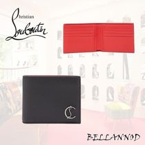 Christian Louboutin Unisex Plain Leather Folding Wallets