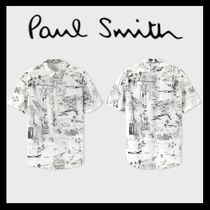 Paul Smith Tropical Patterns Cotton Short Sleeves Shirts
