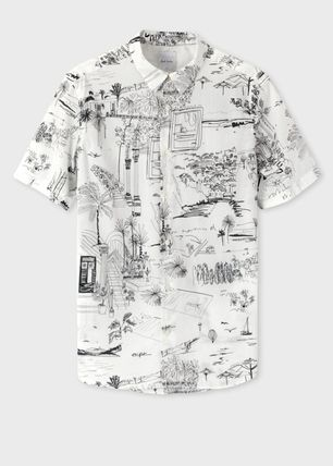 Paul Smith Shirts Tropical Patterns Cotton Short Sleeves Shirts 2
