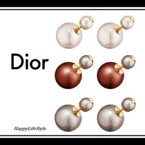 Christian Dior Star Blended Fabrics Elegant Style Earrings & Piercings