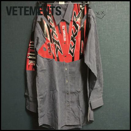VETEMENTS Shirts Unisex Long Sleeves Cotton Shirts