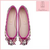 Pretty Ballerinas Flower Patterns Leather Flats
