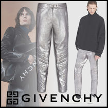 GIVENCHY Street Style Plain Leather Pants