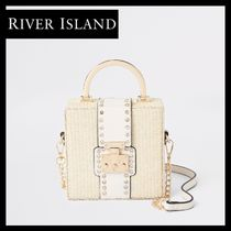 River Island 2WAY Chain With Jewels Straw Bags
