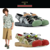GUCCI Studded Street Style Plain Leather Sport Sandals