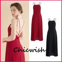 Chicwish Sleeveless Plain Medium Party Style Slip Dresses Dresses