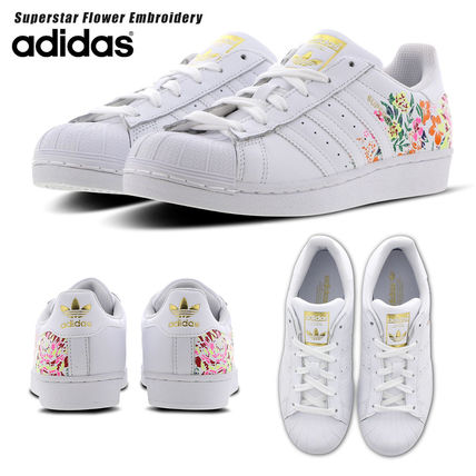 grand choix de b10fe 063cd adidas SUPERSTAR 2019 SS Flower Patterns Round Toe Rubber Sole Lace-up  Casual Style (315348800202)