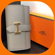 HERMES Unisex Plain Leather Keychains & Holders