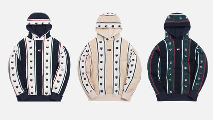 KITH NYC Hoodies Stripes Street Style Collaboration Long Sleeves Cotton 2