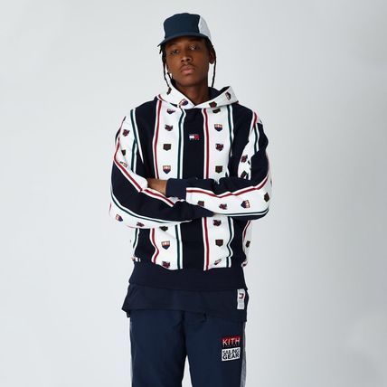 KITH NYC Hoodies Stripes Street Style Collaboration Long Sleeves Cotton 3