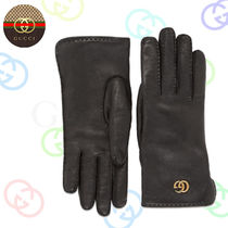 GUCCI Plain Leather Leather & Faux Leather Gloves