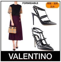 VALENTINO Casual Style Plain Leather High Heel Pumps & Mules