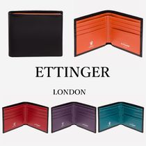 ETTINGER Unisex Plain Leather Folding Wallets