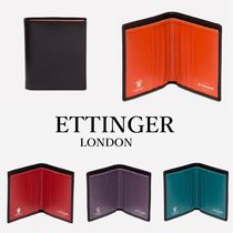 ETTINGER Unisex Bi-color Plain Leather Folding Wallets