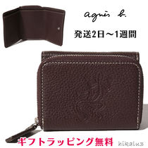 Agnes b Unisex Other Animal Patterns Leather Folding Wallets