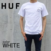 HUF Crew Neck Long Sleeves Cotton Long Sleeve T-Shirts