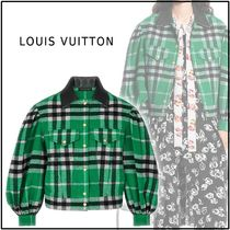 Louis Vuitton 2019-20AW JACKET WITH OVERSIZED SLEEVES green jackets