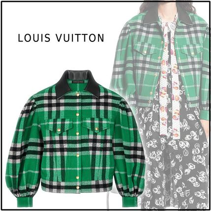2019-20AW JACKET WITH OVERSIZED SLEEVES green jackets