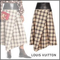 Louis Vuitton Other Check Patterns Wool Long Maxi Skirts