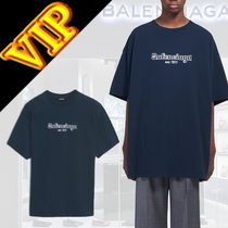 BALENCIAGA Street Style Short Sleeves Oversized T-Shirts