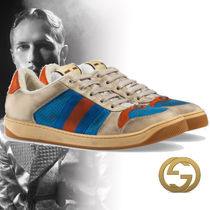 GUCCI Unisex Bi-color Leather Sneakers