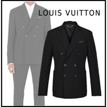 Louis Vuitton 2019-20AW DOUBLE BREASTED EMBOSSED MONOGRAM JACKET black