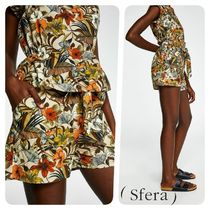 Sfera Short Tropical Patterns Casual Style Cotton