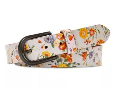 Flower Patterns Casual Style Leather Belts