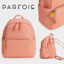 PARFOIS Casual Style Faux Fur 2WAY Plain Backpacks