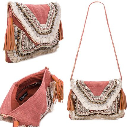 Casual Style 2WAY Fringes Clutches
