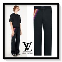 Louis Vuitton Stripes Street Style Plain Cotton Joggers & Sweatpants