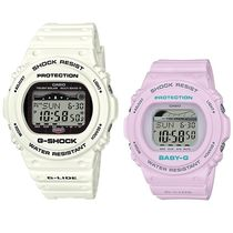 CASIO Casual Style Unisex Silicon Round Digital Watches
