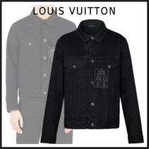 Louis Vuitton 2019-20AW LV STAPLES EDITION DNA DENIM JACKET black jackets