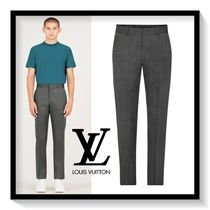 Louis Vuitton Slax Pants Wool Plain Slacks Pants