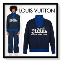 Louis Vuitton Pullovers Long Sleeves Cotton Sweatshirts