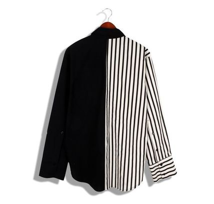 Shirts Button-down Stripes Street Style Long Sleeves Plain Shirts 10
