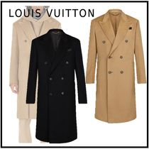 Louis Vuitton 2019-20AW DOUBLE BREASTED TAILORED COAT beige noir 44-54