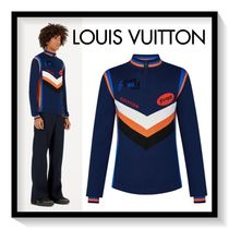 Louis Vuitton Pullovers Wool Bi-color Long Sleeves Tops